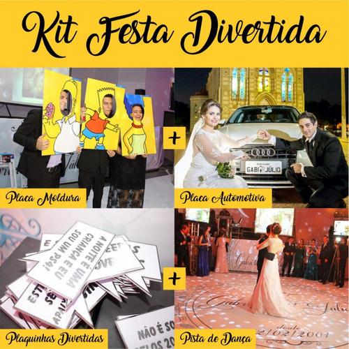 Kit Pista De Dança + Placa Moldura + Automotiva + Divertida