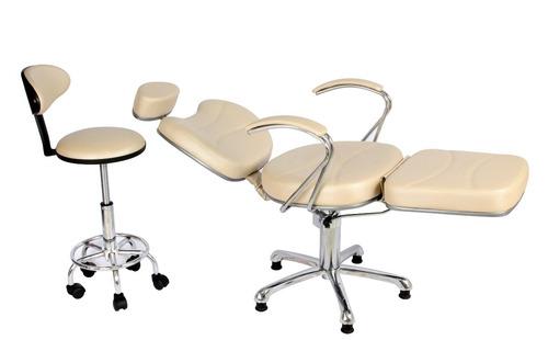 Kit Poltrona Cadeira Reclinavel Hidraulica Maquiagem Mocho