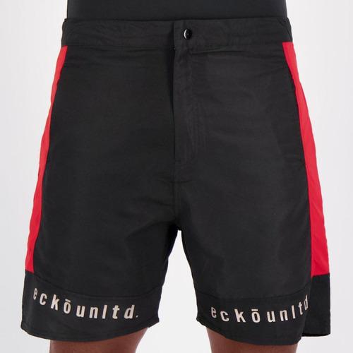 Bermuda Ecko Active Preta E Vermelha Original