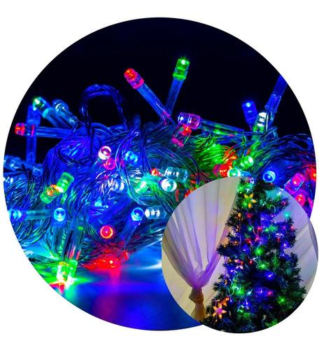 Cordão Pisca Led Colorido 8m Enfeites Natal Decoração Original