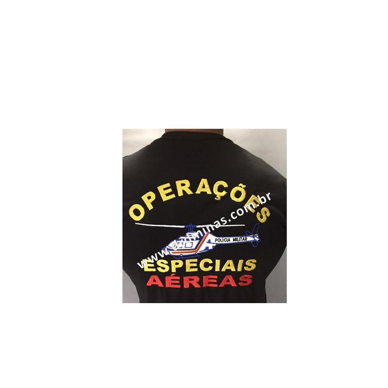 Camisa Operações Aereas - Preta  Bordada