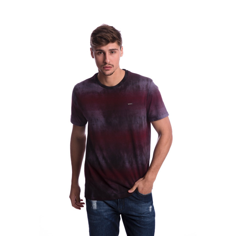 Camiseta Long Island Tie Dye Bordô