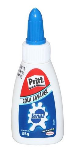 Cola Branca Lavável Tenaz Pritt 35g - Não Tóxica Original