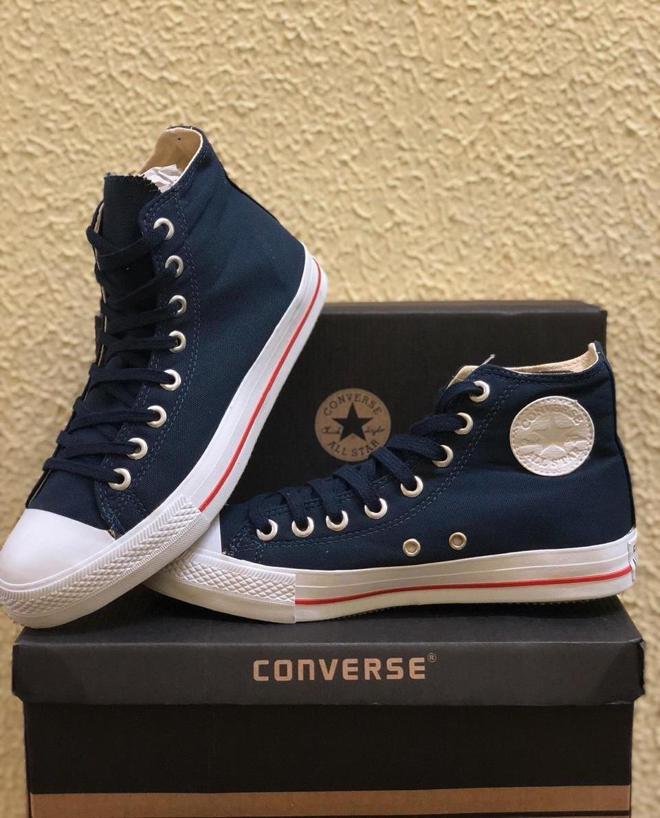 5218b6a03bc Tênis All Star Converse cano longo - Azul