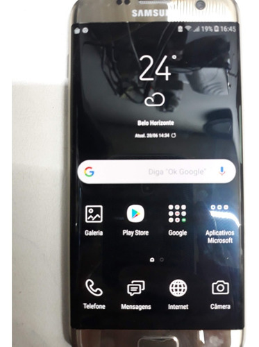 Samsung Galaxy S7 Edge 32 Gb Dourado-platina 4 Gb Ram Original