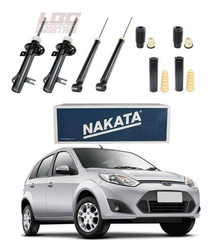Kit 4 Amortecedor Fiesta 2002 2003 2004 2005 2006 2007 2008 2009 2010 2011 2012 2013 2014 Nakata + Kit Original