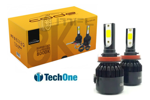 Kit Super Led Techone 8000k 12v 24v H1 H3 H4 H7 H8 H11 Hb4 Original