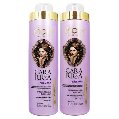 Kit Shampoo + Balsamo Cara De  Rica 1000 ML  - Eico