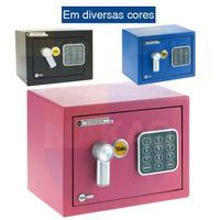 Cofre Eletrônico Mini 17x23x17cm - Yale - La Fonte - 05573001-8 - Rosa