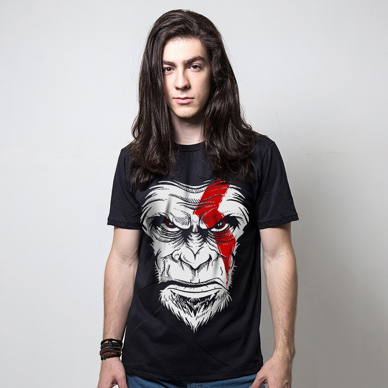 CAMISETA PRETA - MONKEY OF WAR