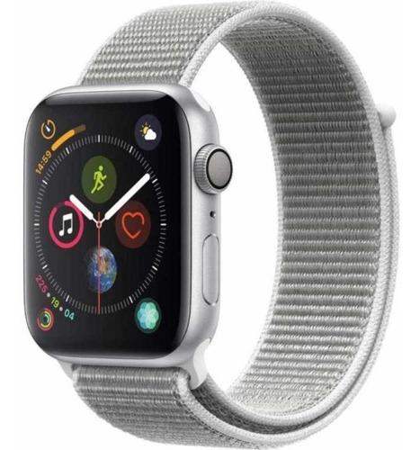 Apple Watch Series 4 44mm Gps Silver Seashell Loop A13154 Original