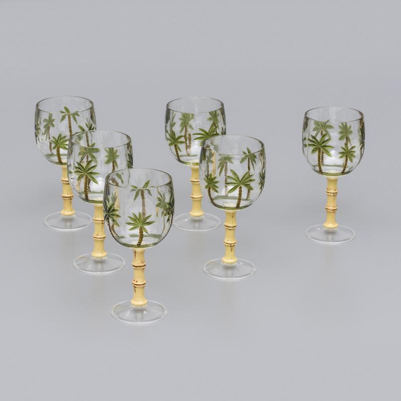 Jogo 6 Taças de Acrilico Palm Tree - Prestige 31010938
