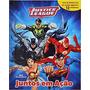Livro Liga Da Justiça Juntos Em Ação Com 12 Miniaturas
