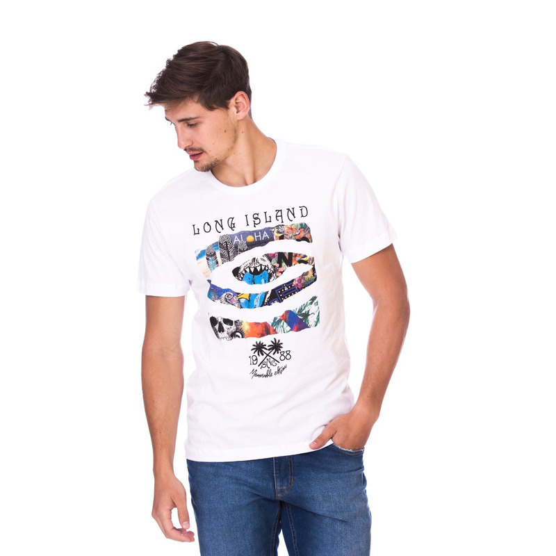 Camiseta Long Island Aloha Branca