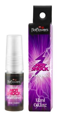 Vibrador Liquido Hot Shock Viber Spray 12ml - Hotflowers Original