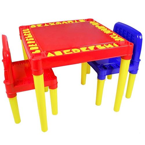 Conjunto De Mesinha Com Cadeiras Infantil P/ Criança Tritec Original