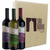 Kit Vinho Bordô Suave + Seco + Branco Niagara - Frank