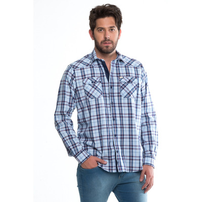 Camisa Xadrez Masculina Tião Carreiro cf548065bce