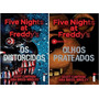 Kit 2 Livros Five Nights At Freddys Prateados Distorcidos