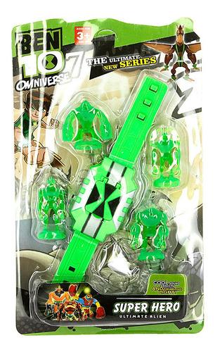 Brinquedo Relógio Ben 10 Ominitrix Com Som Luz Mais 4 Aliens Original