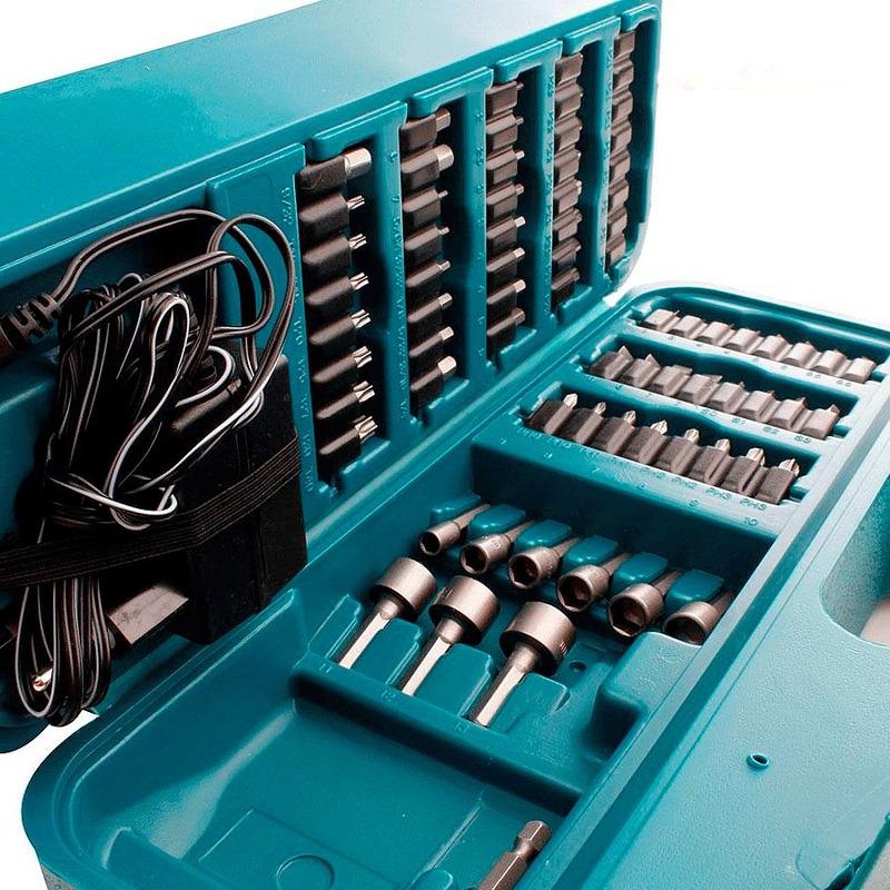 Kit Parafusadeira à Bateria Dobrável 6723DW C/ Maleta de acessórios + Adaptador Mag Boost Magnético