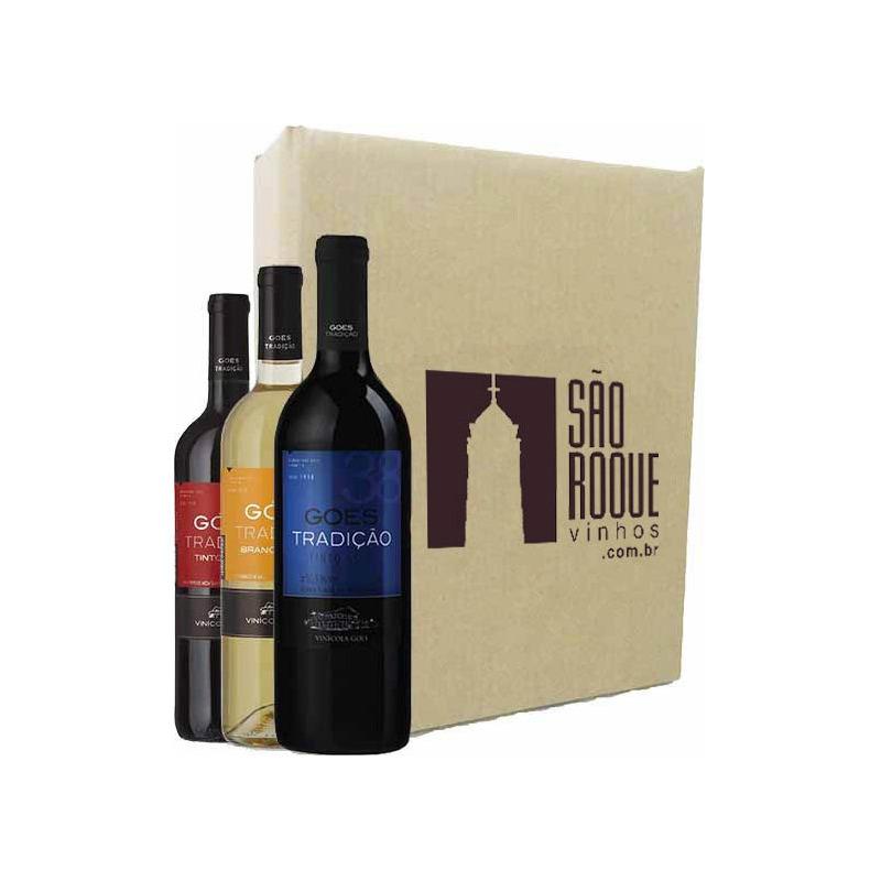 Kit Vinho Izabel/Bordô Suave + Seco + Branco Niagara - Góes