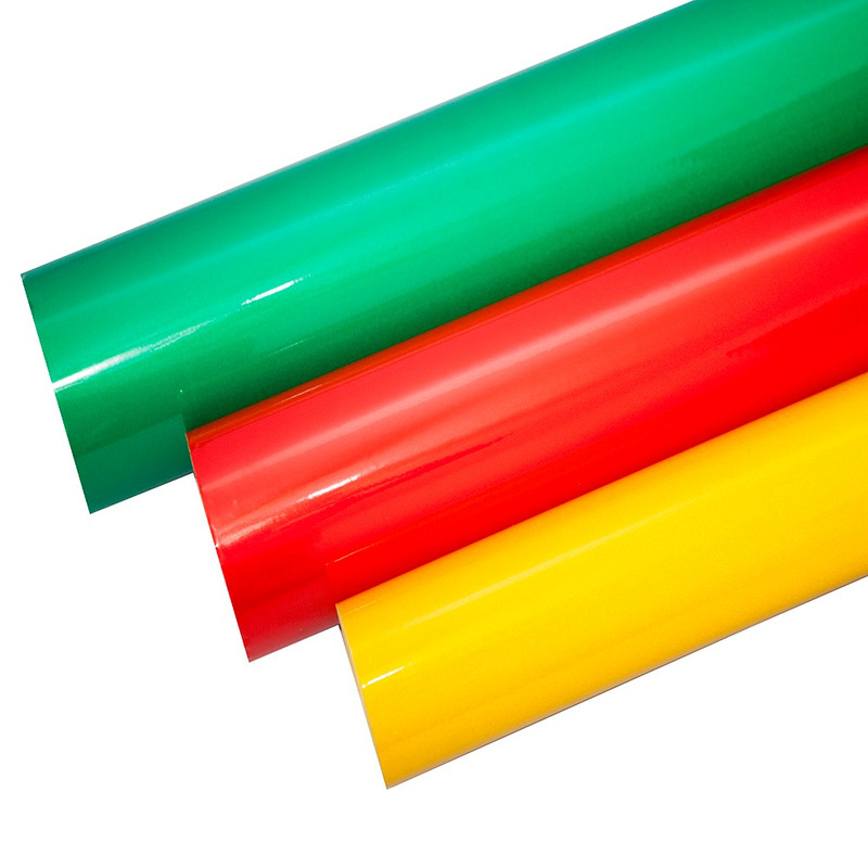 Vinil adesivo refletivo verde (grau comercial) larg. 1,24 m