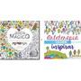 Kit Com 2 Livros Jardim Mágico Arteterapia Para Colorir