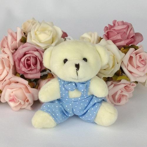 10 Lembrancinhas Chaveiros Mini Ursinhos Roupa Azul