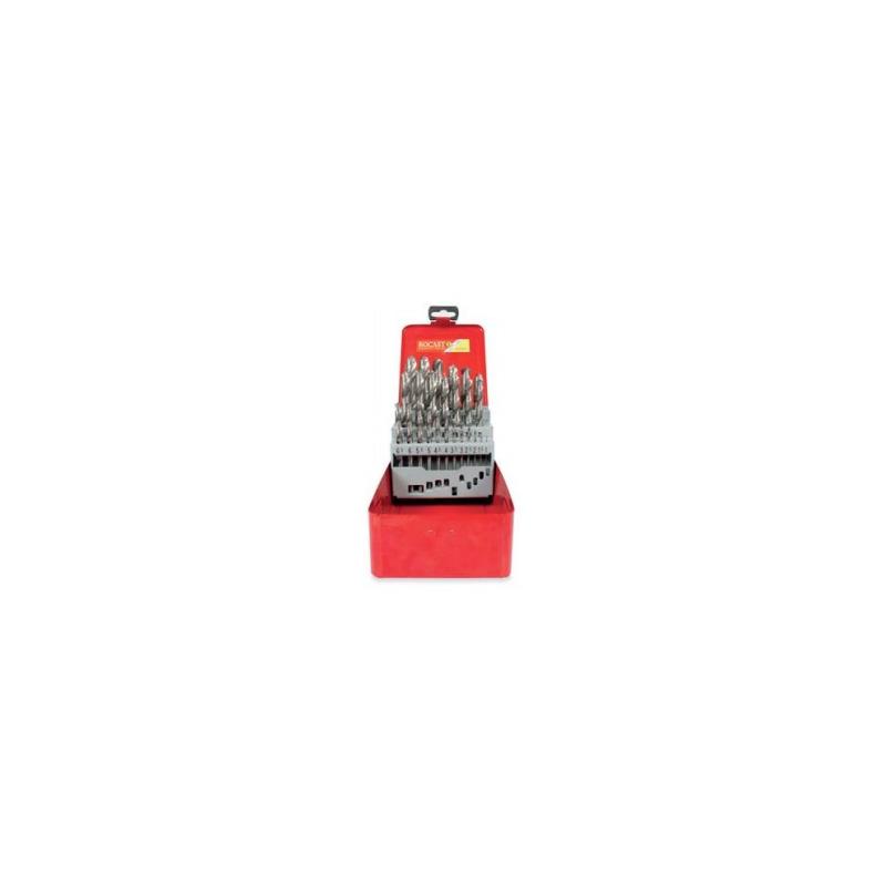 Jogo de brocas aço rápido com 25 peças 1,0-13,0MM D338-Rocast