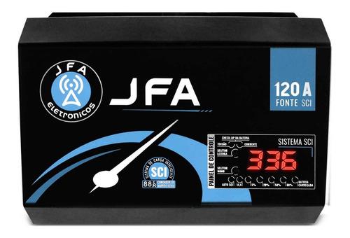 Fonte Automotiva Jfa 120a Amperes 1800w Bivolt C Voltímetro Original