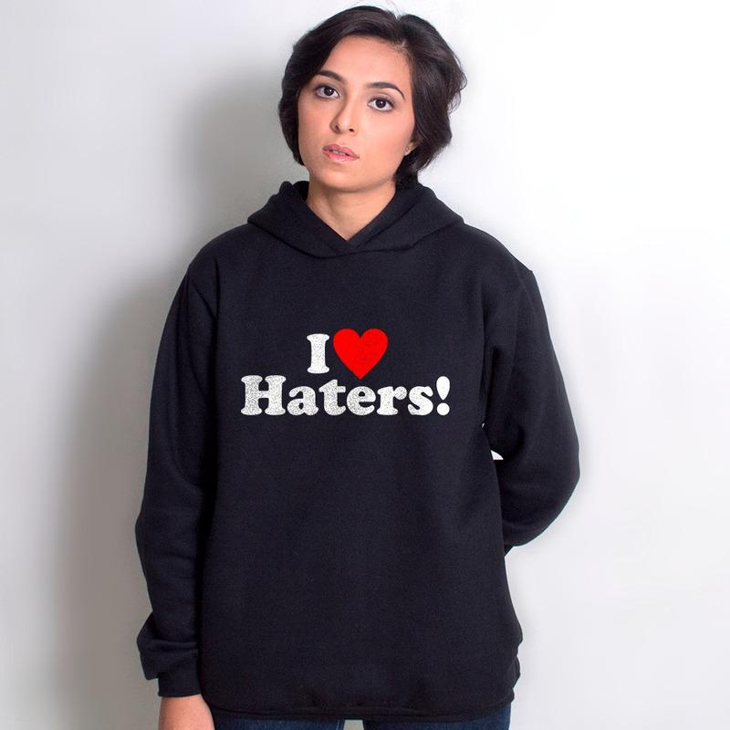 MOLETOM PRETO - HATERS