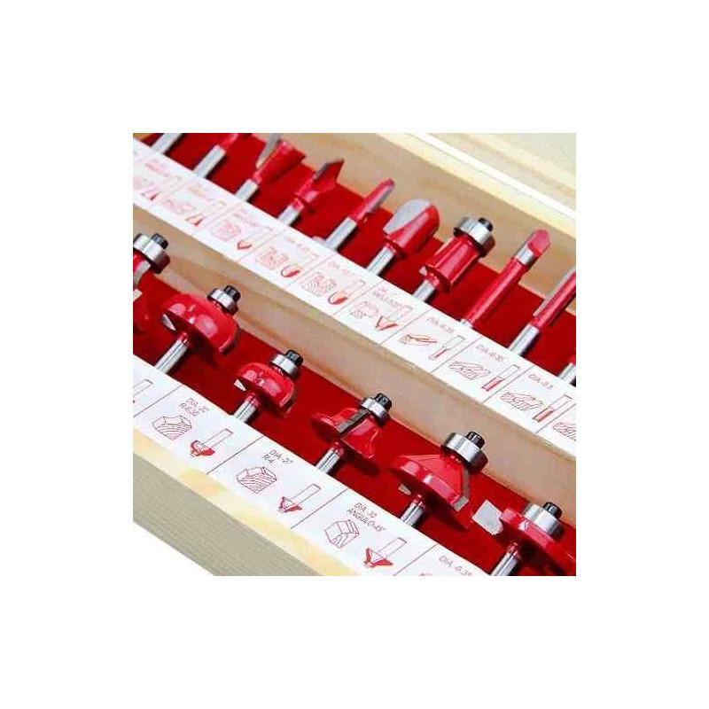 "Kit Combo Tupia 6mm 1/4"" 530 Watts 3709 Makita + Kit de 24 Fresas para Madeira Haste de 1/4"" CQT024 - 220 Volts"
