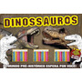 Livro Hora De Brincar Dinossauros Com 30 Lapis De Cor