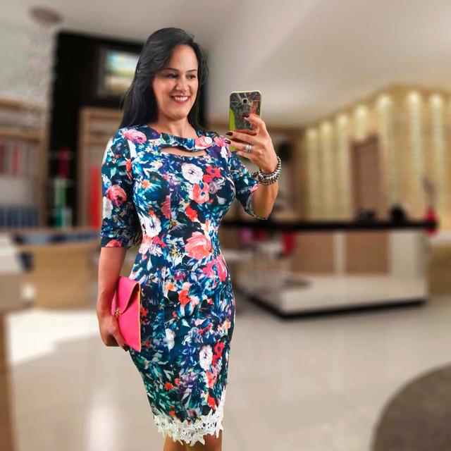 6c086df4c Moda Evangelica Feminina Vestido Tubinho Social Moda Gospel em ...