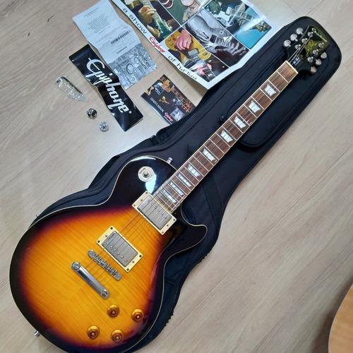 Guitarra EpiPhone Standard Sunburst Tags Semicase Skb Strap Original