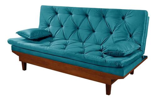 Sofa Cama Reclinavel Caribe 8 Cores Disp Essencial Estofados Original