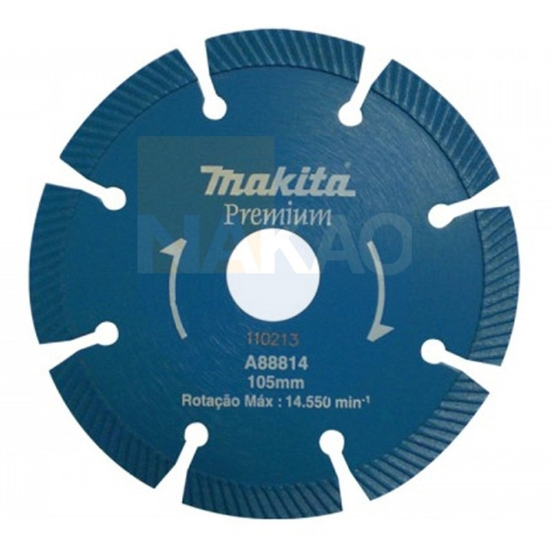 "Disco Diamantado Segmentado 105 mm (4.1/8"") Ondulado - Makita - A-88814"