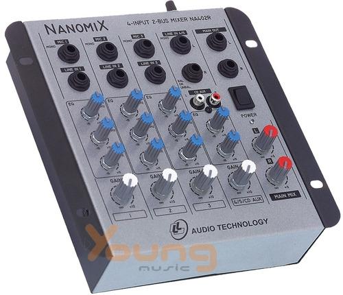 Mesa Som Nanomix Na 402r 4 Canais - Nca 1467