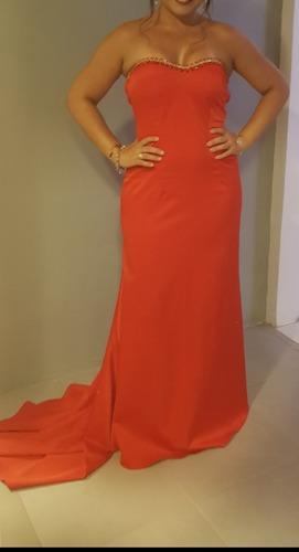 Vestido Vermelho De Festa Longo Usado Apenas 1 Vez Original