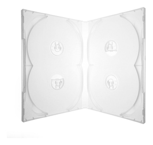 100  Estojo  Dvd Quadruplo Transparente Impecavel Original