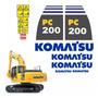 Adesivos Escavadeira Komatsu Pc200 8 Pc2008 Kit Completo Mk