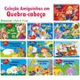 Kit Livros Quebra cabeça Infantil 10 Und
