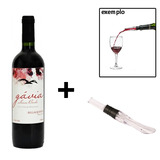Kit Vinho Tinto Bordô 750ml + Tampa Vinho Aerador - Bella Quinta