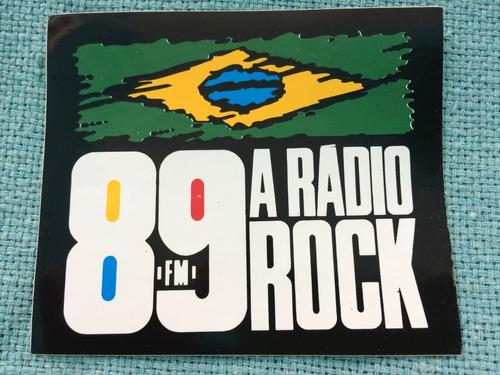 Adesivo Uol Rádio 89 Rock Fm Raridade Colorido Exclusivo