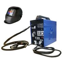 KIT Maquina Mig 130 Sem gás 110volts+mascara Automática