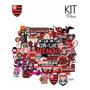 Adesivo Flamengo Camisa Do Time Futebol Clube Kit 50pcs