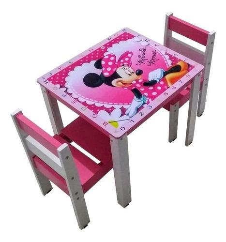 Conjunto Mesa Mesinha Infantil Criança Cadeira Madeira Mdf Original