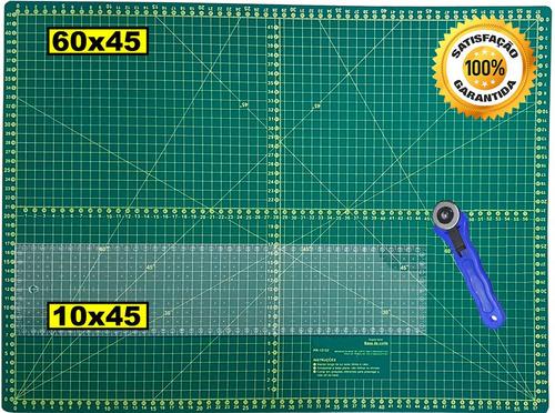 Base Corte A2 60x45 Régua 10x45 Cortador Scrapbook Patchwork Original