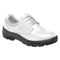 Sapato de Segurança Branco com Cadarço Vaqueta Bota Brasil com Bico PVC  - 112 34